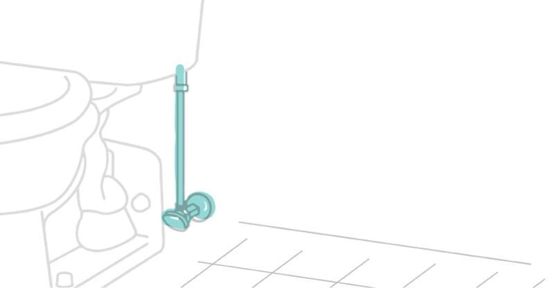 Illustration of toilet supply line