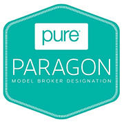 This emblem identifies an independent broker that has earned PURE's Model Broker Designation.
