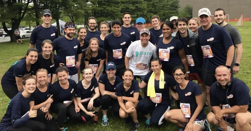 Group of PURE employees at 5k run